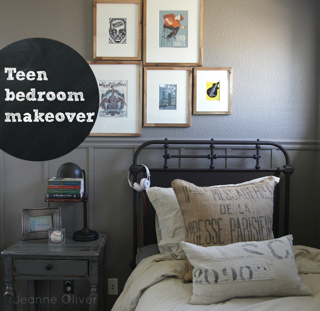 Teen Boy Bedroom Makeover {before and after} - Jeanne Oliver