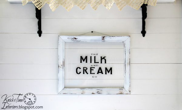 Milk and Cream Co. Sign available from Knick of Time