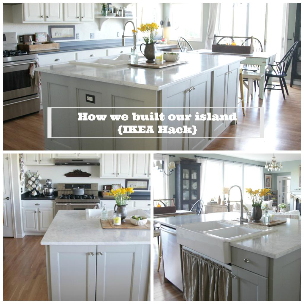 Ikea hack how we built our kitchen island jeanne oliver for What are ikea kitchen cabinets made of