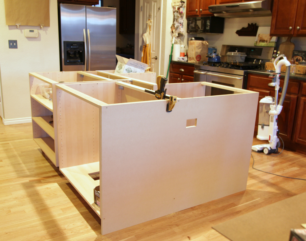 IKEA Hack How We Built Our Kitchen Island Jeanne Oliver - How to build a kitchen island with cabinets