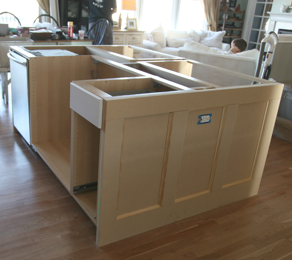 build a kitchen island with seating ikea how we built our kitchen island jeanne oliver 26497