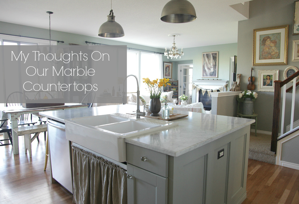 My thoughts on our marble countertops jeanne oliver - Kitchen design marble countertops ...