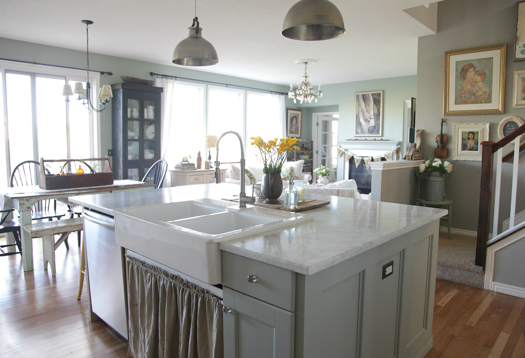 ikea white kitchen island my thoughts on our marble countertops jeanne oliver 4614