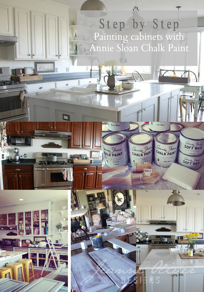 Step By Step Kitchen Cabinet Painting With Annie Sloan Chalk Paint - Chalk paint kitchen cabinets how durable