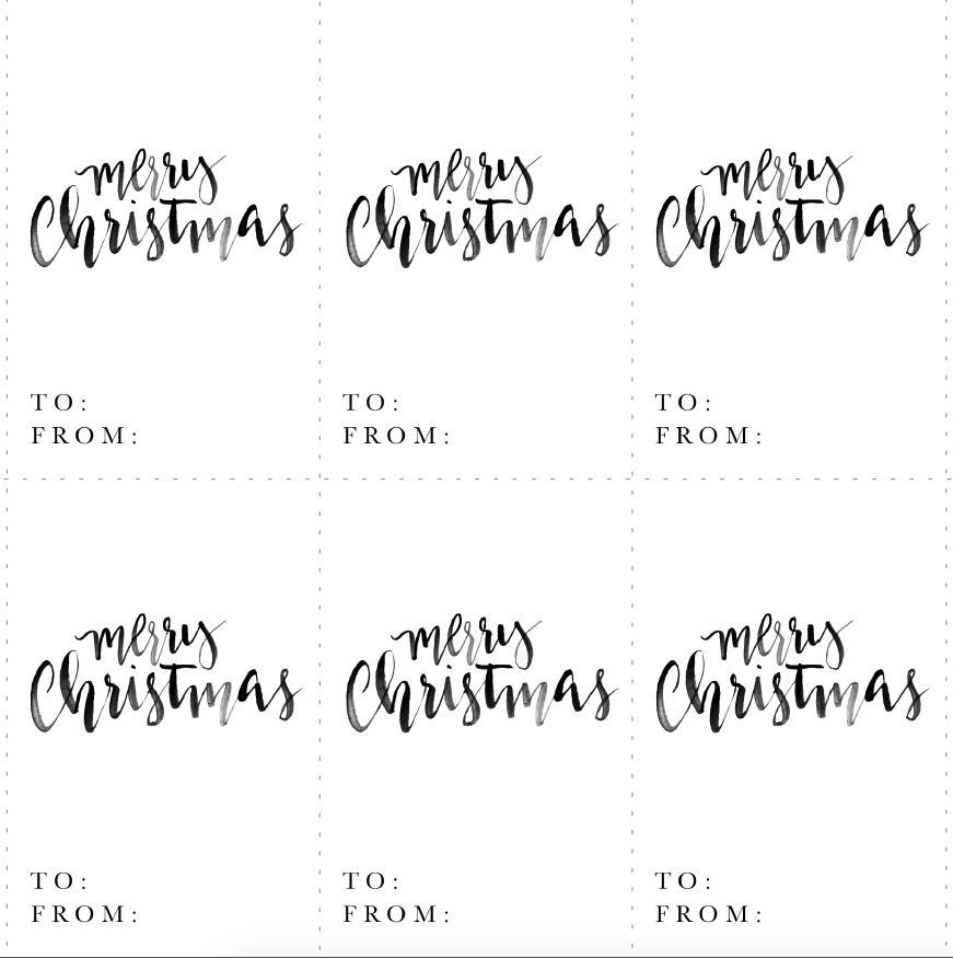 graphic regarding Merry Christmas Tags Free Printable known as Merry Xmas! absolutely free printable tags and poster - Jeanne