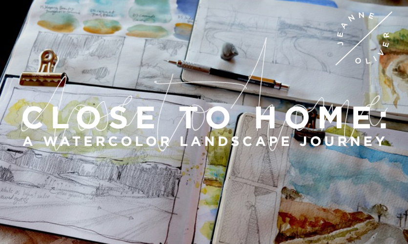 Close To Home: A Watercolor Landscape Journey course image