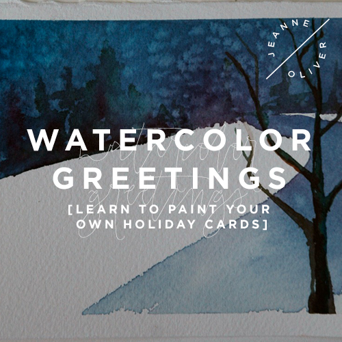 Watercolor Greetings: Learn to Paint Your Own Holiday Cards course image