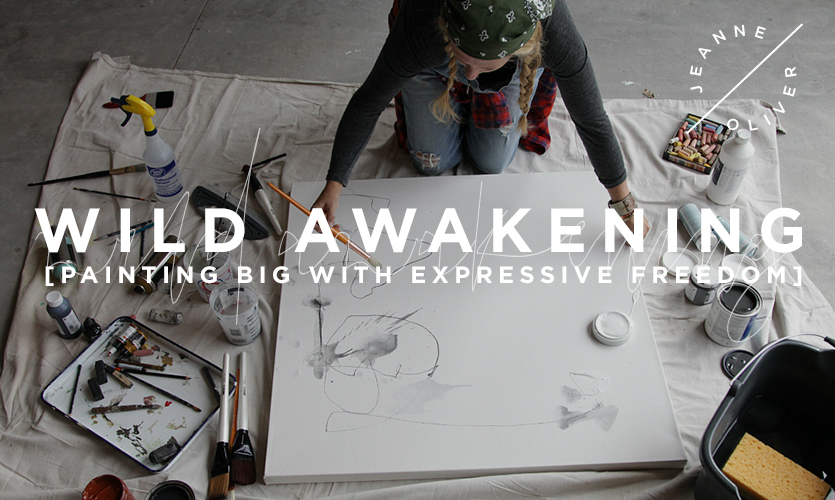 Wild Awakening: Painting Big course image