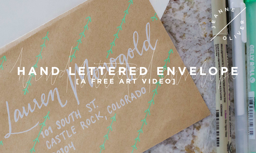 Free Art Video: Hand Lettered Envelopes course image
