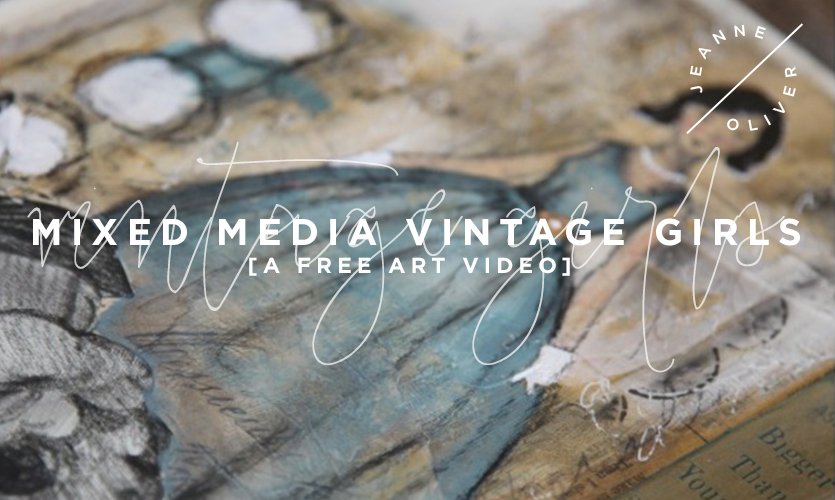 Free Art Video: Mixed Media Vintage Girls course image