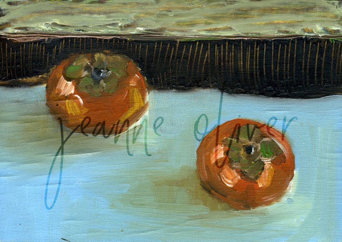 Persimmons by Jeanne Oliver