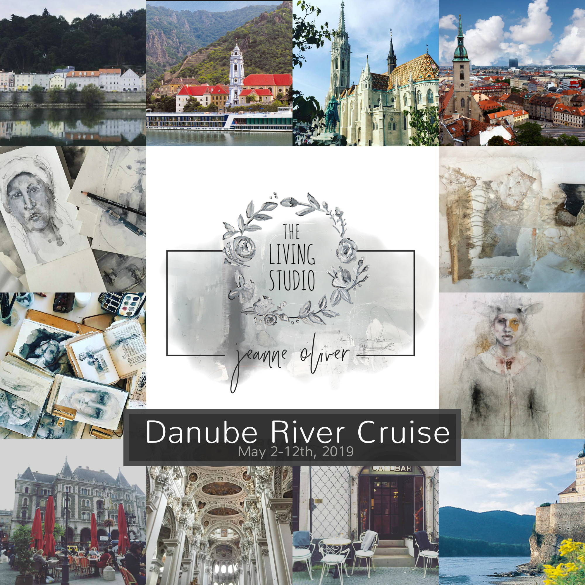 Danube | Prague to Budapest 2019 Living Studio with Jeanne Oliver
