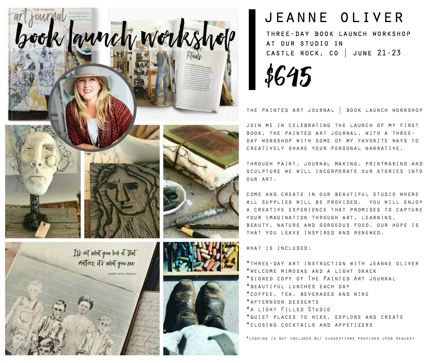 The Painted Art Journal Workshop with Jeanne Oliver