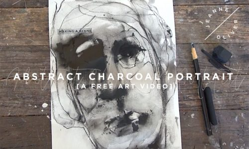 Abstract Charcoal Portrait with Jeanne Oliver