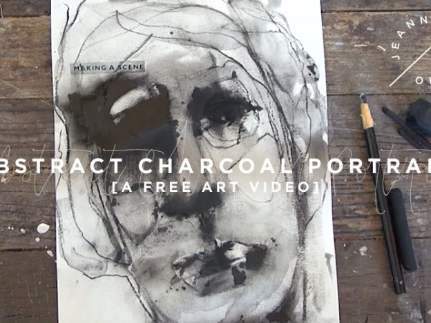 Free Art Video: Abstract Charcoal Portrait course image