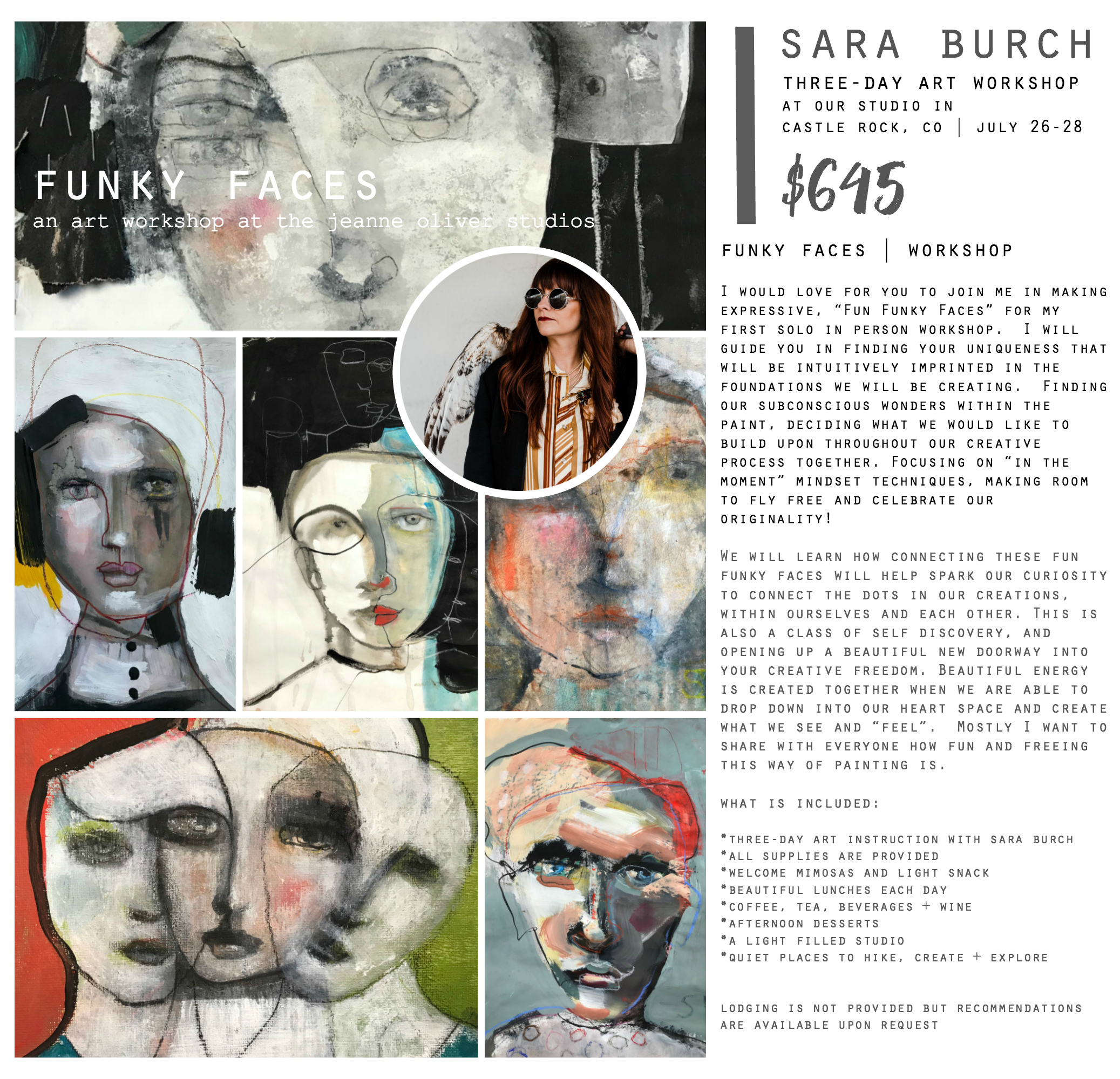 Funky Faces with Sara Burch