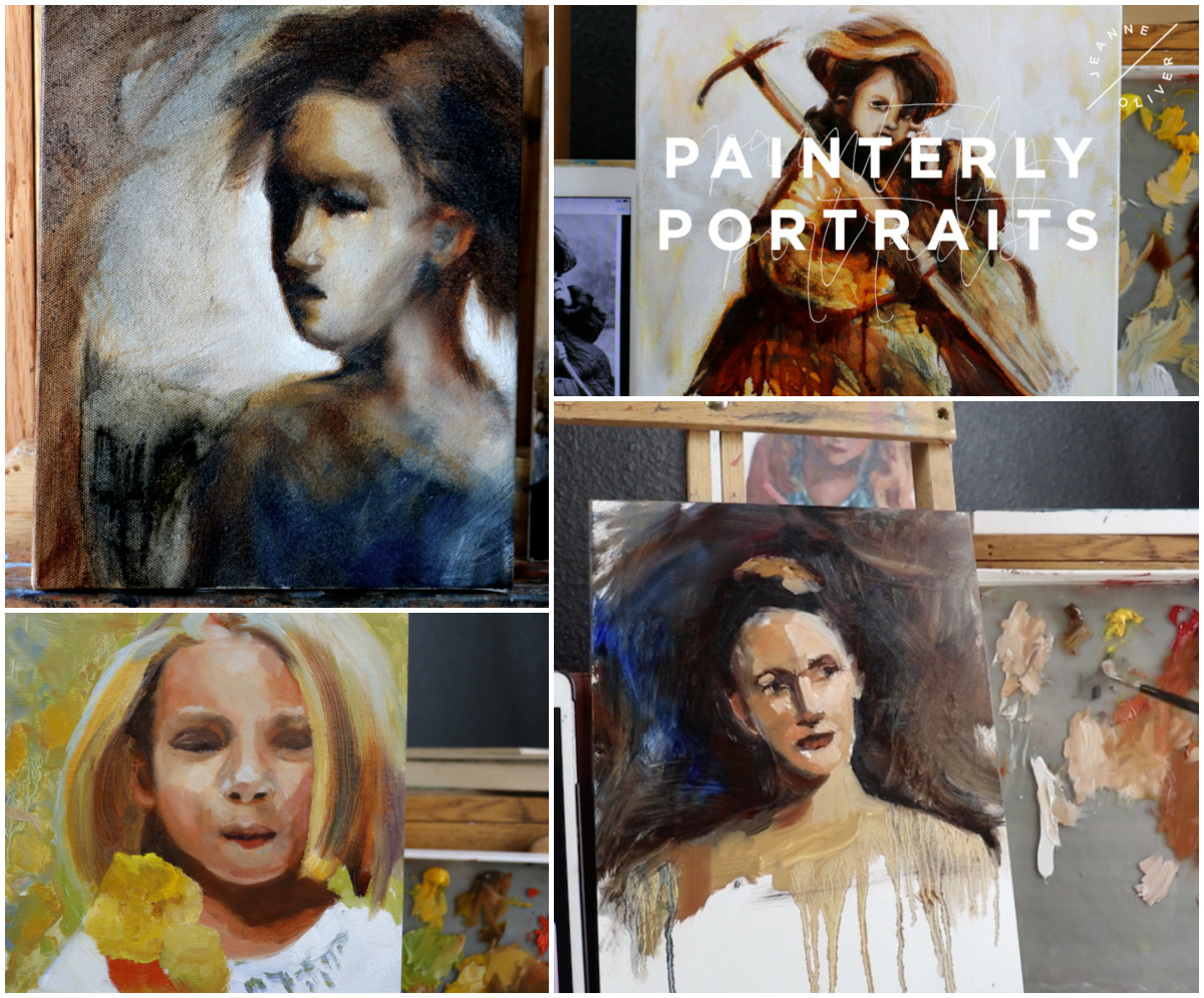 Painterly Portraits Collage