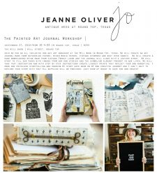 The Painted Art Journal One-Day Workshop | Round Top, Texas