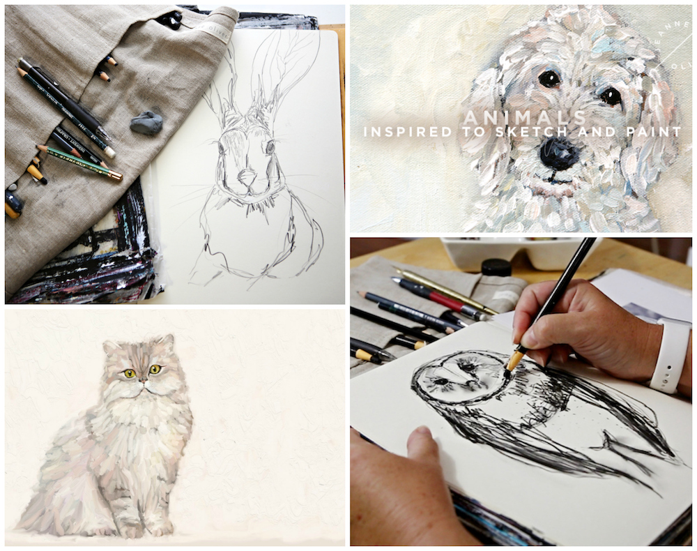 Animals | Inspired to Sketch and Paint Collage