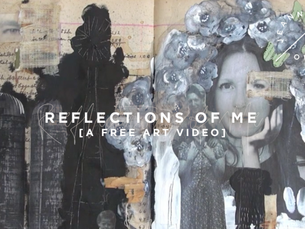 Free Art Journaling Video: Reflections of Me course image