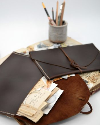 Leather Art Pouch