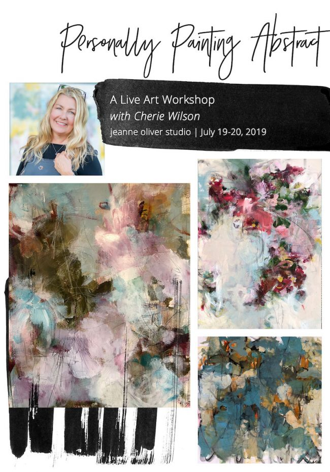 Personally-Painting-Abstract with Cherie Wilson