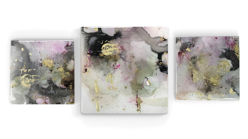 Art Under Resin | Alcohol Ink in Abstract - Jeanne Oliver