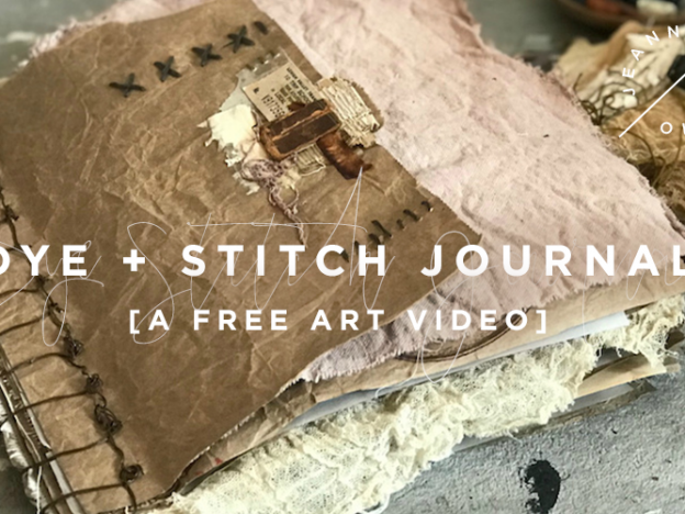Free Art Video: Dye + Stitch Journal course image