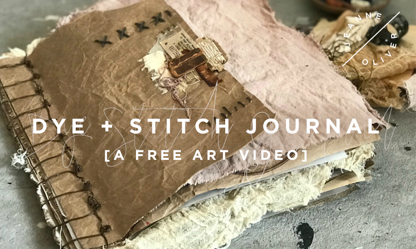 Free Art Video: Dye + Stitch Journal