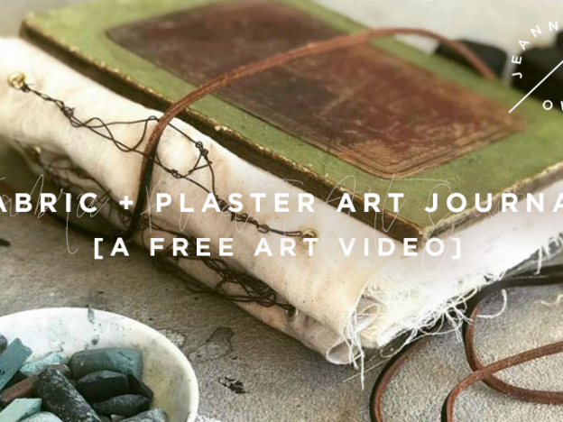 Free Art Video: Fabric + Plaster Art Journal course image