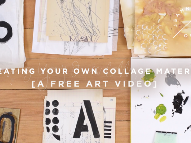 Free Art Video: Creating Your Own Collage Material course image