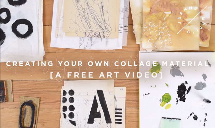Free Art Video: Create Your Own Collage Material