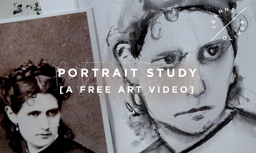 Free Art Video: Portrait Study