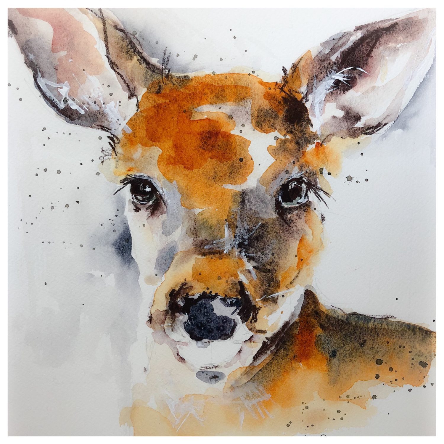 Less Is More Watercolor Animals Jeanne Oliver