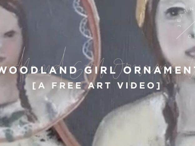 Free Art Video: Woodland Girl Ornament course image