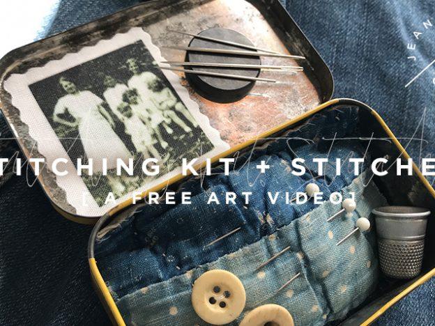 Free Art Video: Stitching Kit + Stitches course image