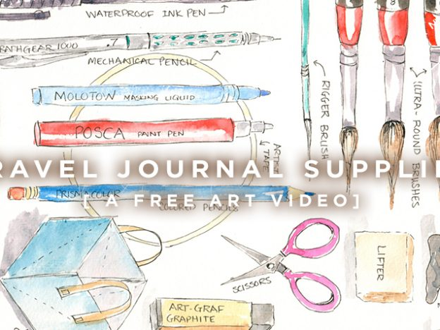 Free Art Video: Travel Journal Supplies course image