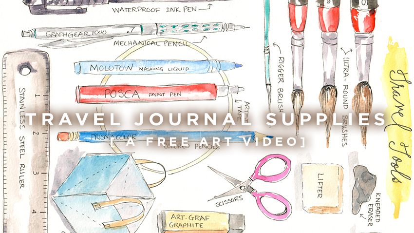 Free Art Video: Travel Journal Supplies