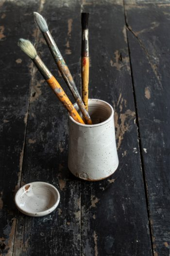 Pottery Brush Holder