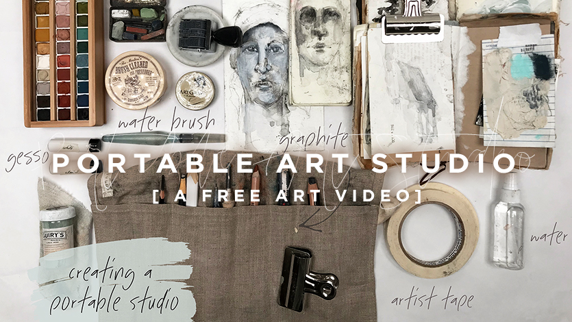 Free Art Video: Portable Art Studio