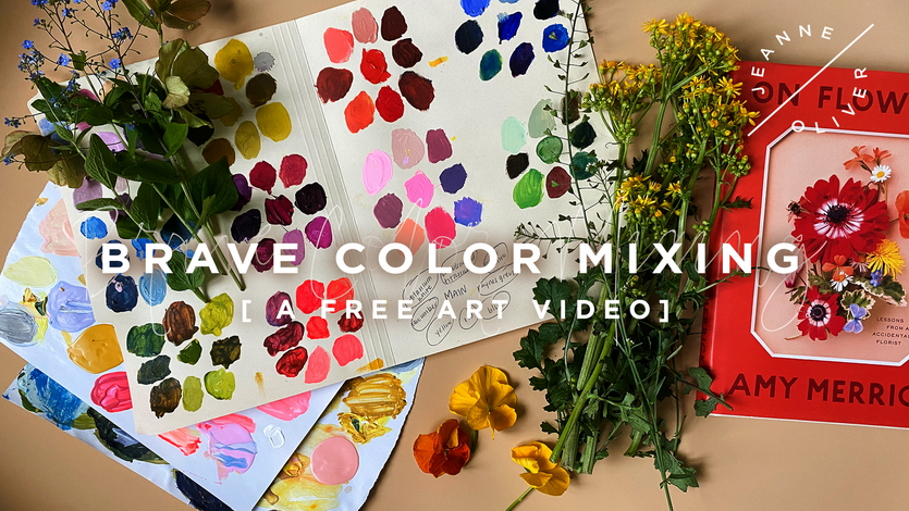 Free Art Video: Brave Color Mixing