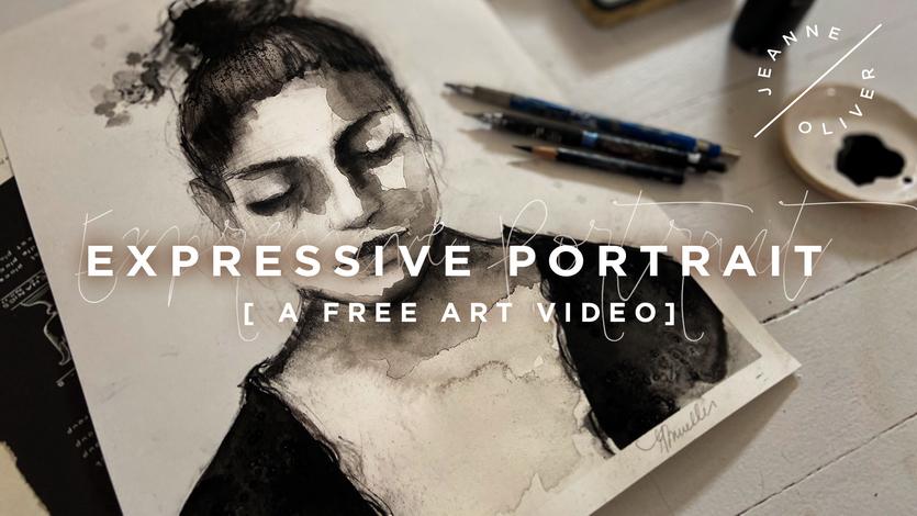 Free Art Video: Expressive Portrait